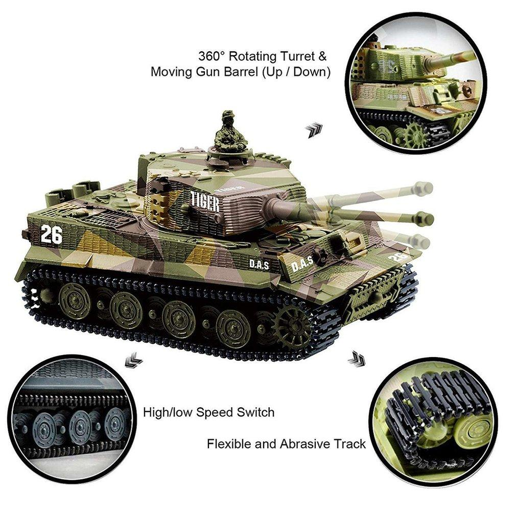 German Tiger Mini Remote Control Tank Car Charging Remote Control Car Toy Children's Intelligence Toys Gift for Kids