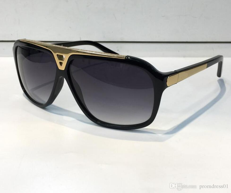 Hot Sell fashion Luxury evidence sunglasses retro vintage men Z0350W designer shiny gold frame laser logo women top quality with package