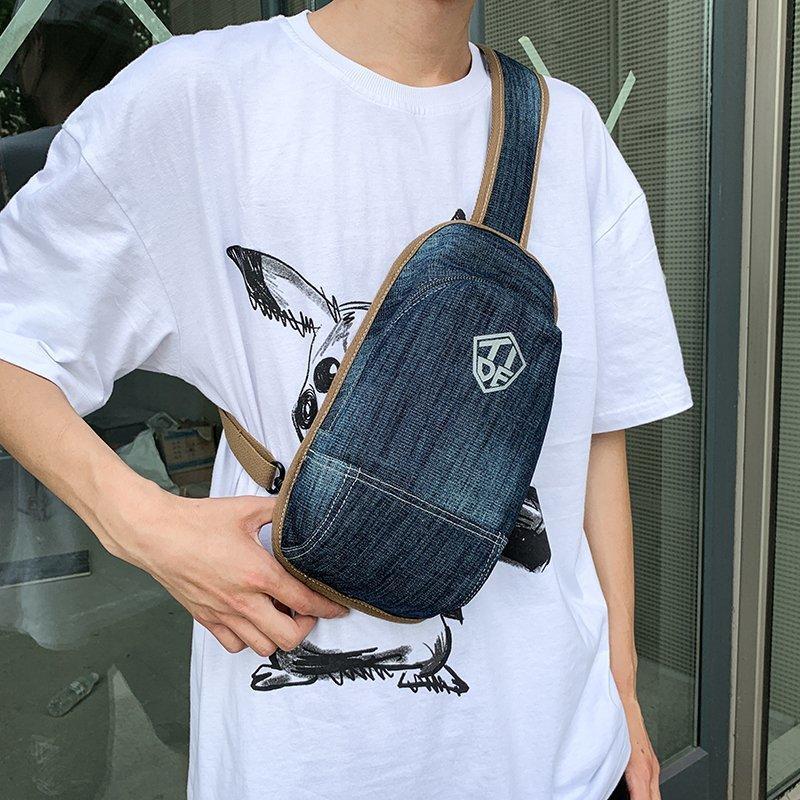 Bolsas de cintura bolsa de hombro Man Pack Multifuncional Denim Fashion Boy Crossbody 2021 cofre para paquetes de mensajeros masculinos