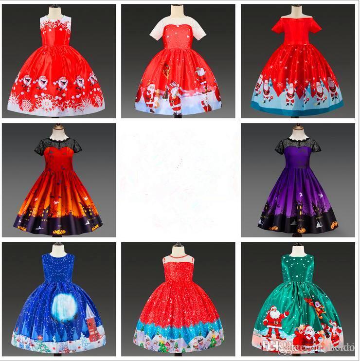 Cosplay niñas princesa verano dibujos animados niños niños princesa vestidos vestidos de halloween vestido de navidad