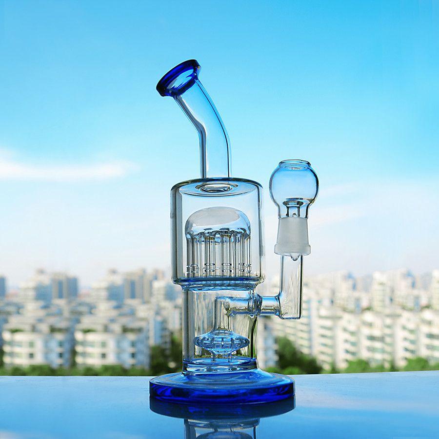 TORO New Thick Glass Bong Waterpipe Arm Tree Perc Smoking Glass Pipe Dab Rigs Water Bongs With 18mm Bowl Shisah Hookahs