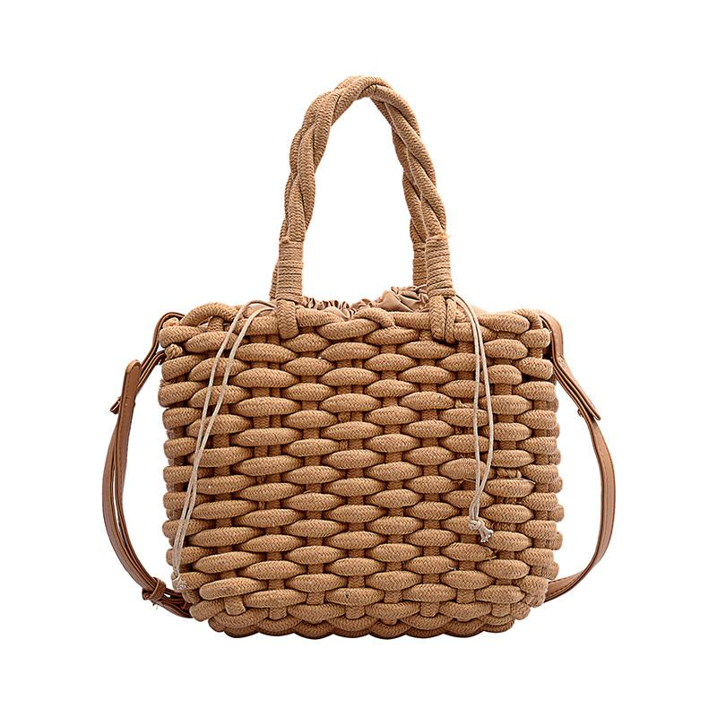 حقيبة مصمم واحدة الكتف حقيبة الهاتف الخليوي متعددة الوظائف حقيبة أزياء المنسوجة الرباط نمط عادي الشخصية سترو حقيبة السفر الكتف
