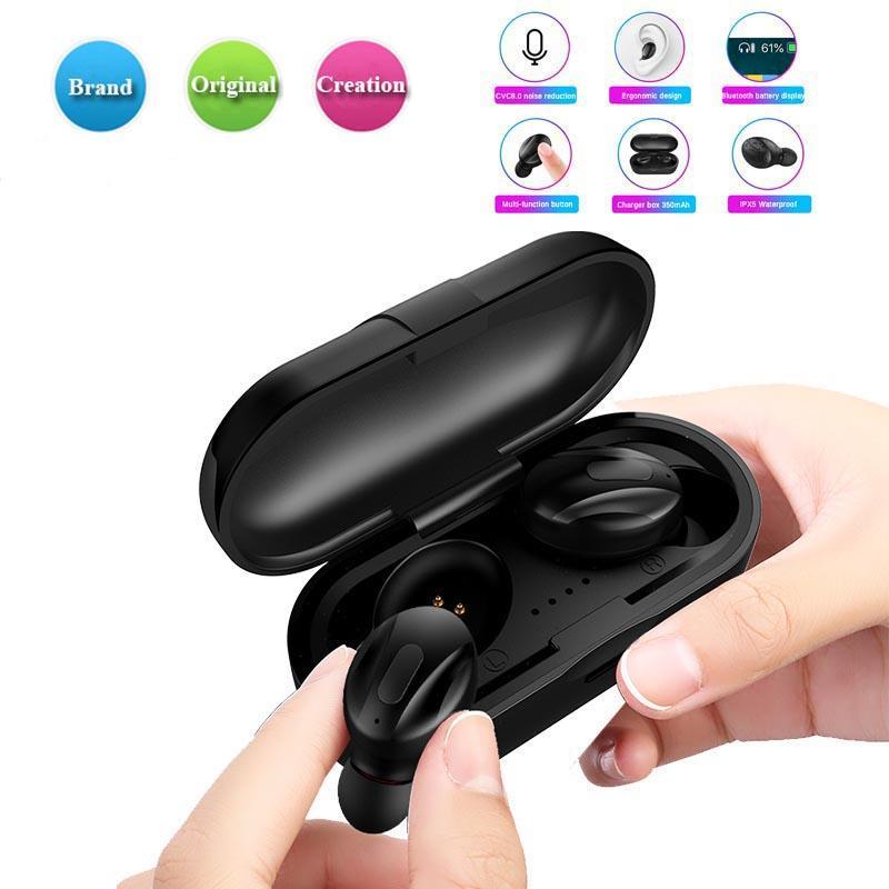 XG13 Smart Wireless Bluetooth para auriculares estéreo 5.0 TWS Deportes Mini auricular resistente al agua en el oído de ruido estéreo de reducción de sonidos