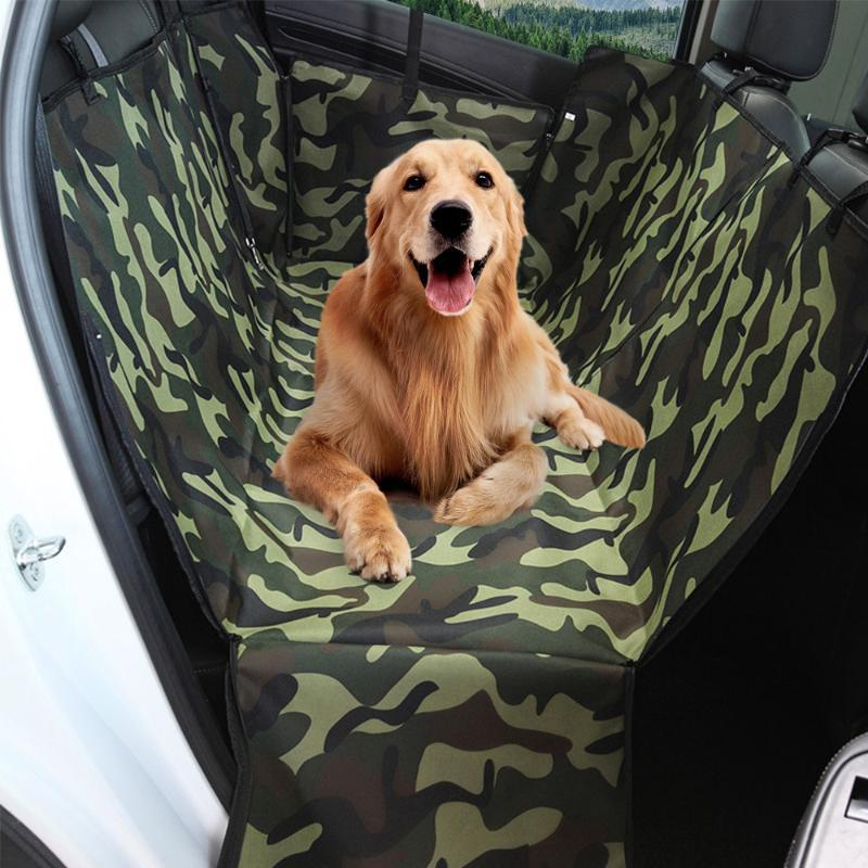 Car Pet Seat Cover Dog Car Back Seat Carrier Waterproof Pet Mat Hammock Cushion Carriers Oxford Fabric Pattern