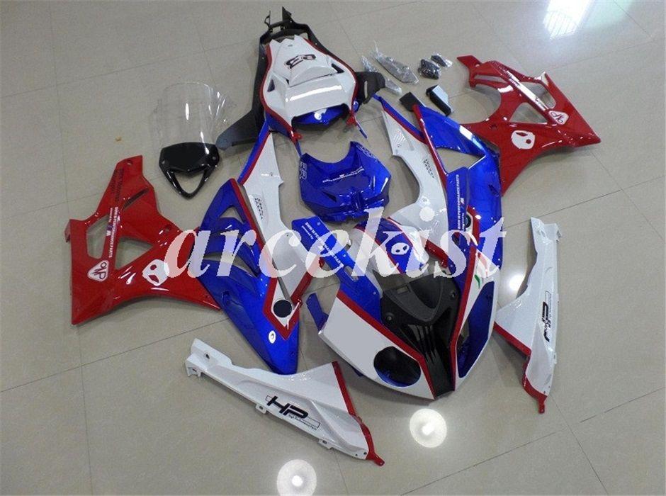 Neue Qualität ABS Motorrad Voll Fairings Kit Fit für BMW S1000RR 2009 2010 2011 2012 2013 2014 Karosserie set Gewohnheit Weiß, Blau, Rot