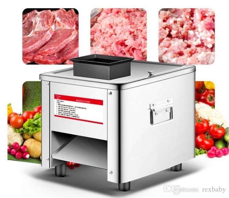 850W многофункциональный 304 из нержавеющей стали мясорубка коммерческий слайсер настольный автоматический электрический машина для нарезки кубиками