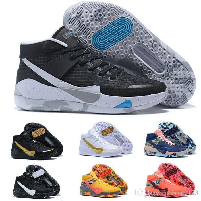 Nike 2020 Mens Trainers New KD 13 EP weißer Schaum Rosa Paranoid Oreo ICE-Basketball-Schuhe Original-Kevin Durant XI KD13 Turnschuhe Größe 7-12