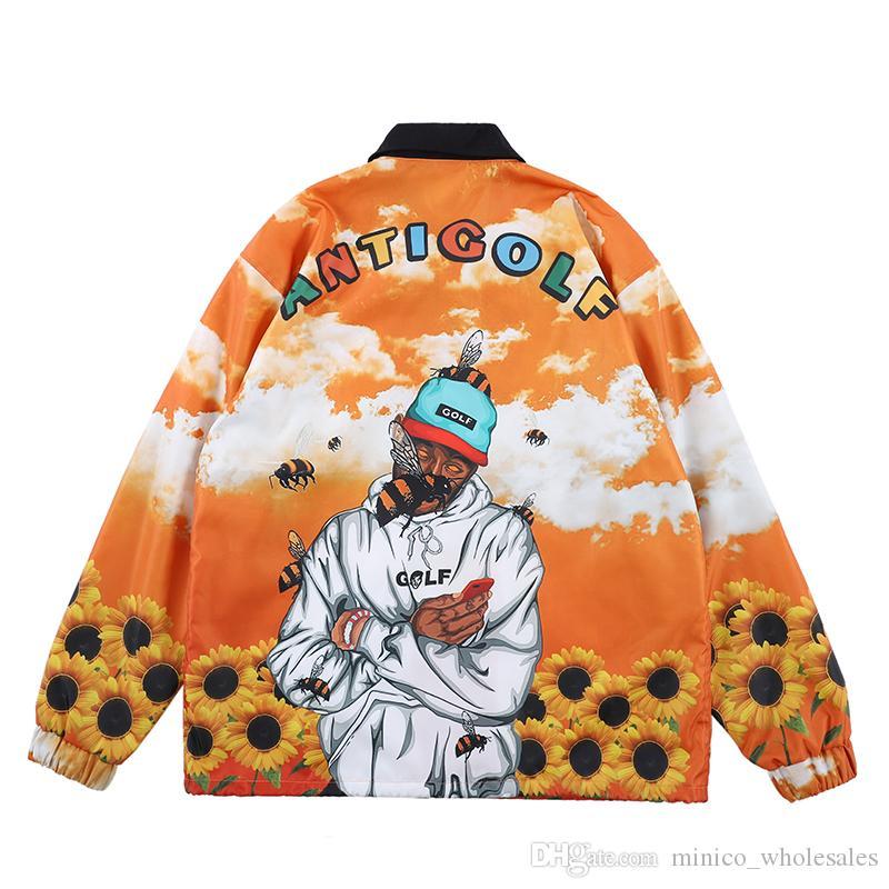 ANTI GOLF WANG ASAP Rocky Thin Jackets Autumn Winter Real Pics TESTING High Quality Coats Fashion Outwear for Men Women