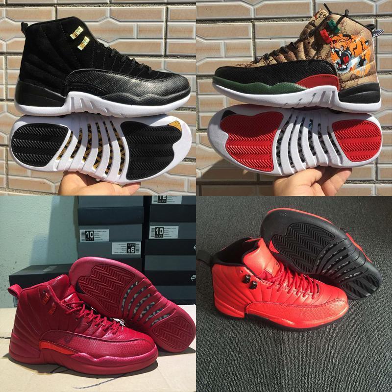Nuovo 12 S FIBA 12 Reverse Taxi Uomini Scarpe Da Basket College Navy Grigio scuro Sport sneakers designer3397#