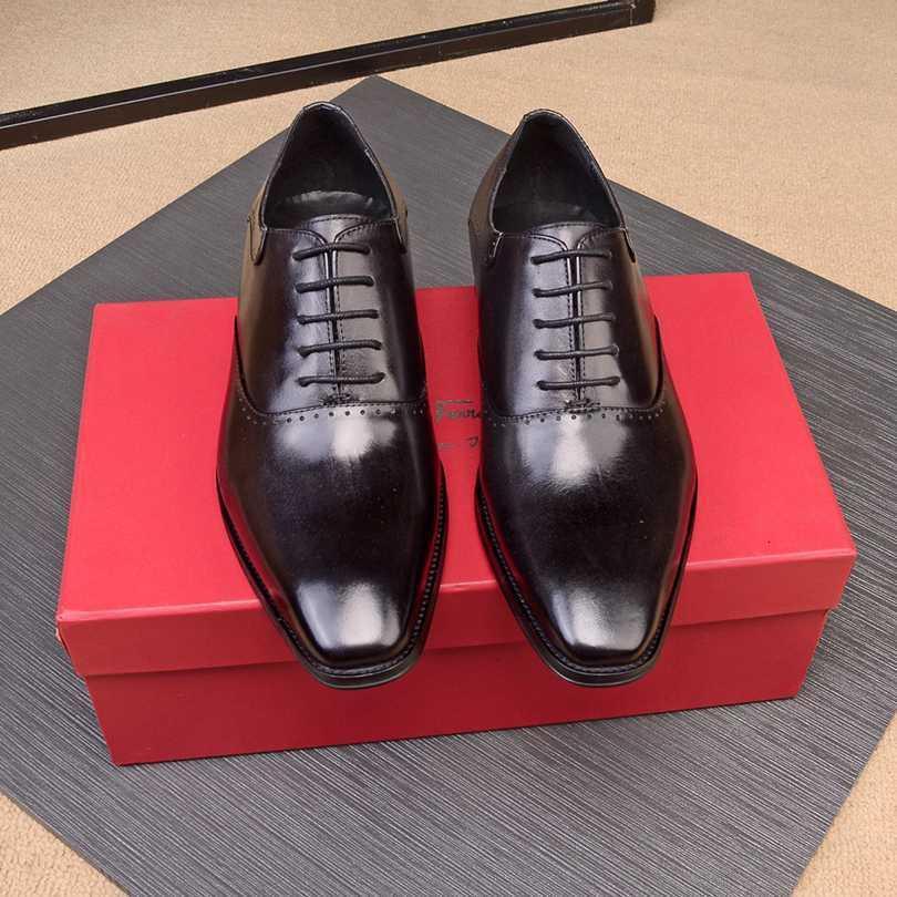 남성 공식적인 비즈니스 결혼식 편안한 낮은 패션 뒤꿈치 가죽 신발