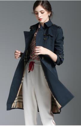المبيعات الساخنة! النساء أزياء إنجلترا طويل الربيع / الخريف معطف خندق / أعلى جودة العلامات التجارية مزدوجة الصدر طول الركبة خندق للنساء حجم S-XXL