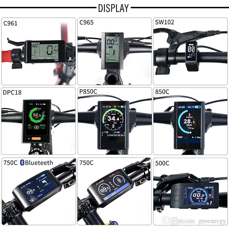 Electric Bike Speedometer LCD Display DPC18 850C 500C SW102 C965 C961 750C Bluetooth for BAFANG BBS Mid Drive Motor Bicycle ebike Computer