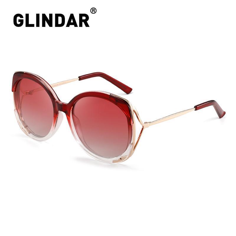 Wholesale-Round Gafas For Women Glasses Sunglasses Women Big De Oversized Sunglasses Polarized Red Sol Fashion Sun Uvqis