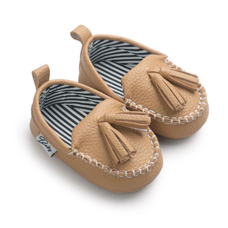Mocassim Primeira Walkers bebê recém-nascido sapatos da criança Prewalker Shoes Baby Boy menina Pu Tassel Pingente de couro