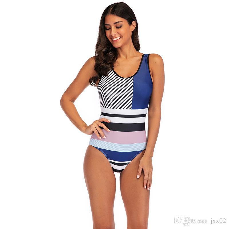 Designer Swimsuit Swimwear Swim Clothing Beachwear Woman One piece swimsuit Sexy Print Swimwear Bathingsuit 2019 S -XL