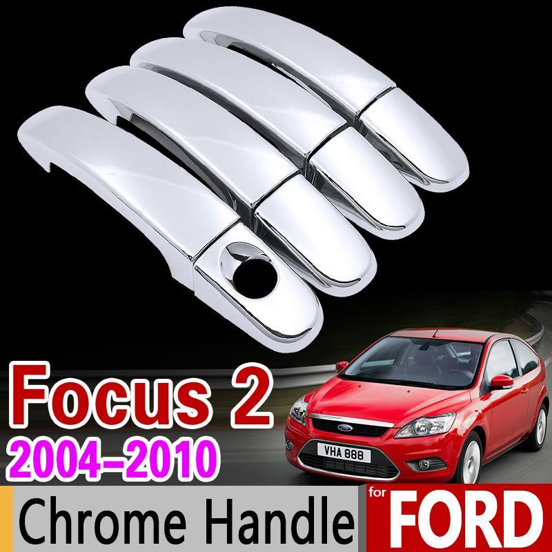 مجموعة غطاء مقبض كروم لـ Ford Focus 2 mk2 mk2.5 2004 2005 2006 2007 2008 2009 2010 Car Accessories Stickers Car Styling
