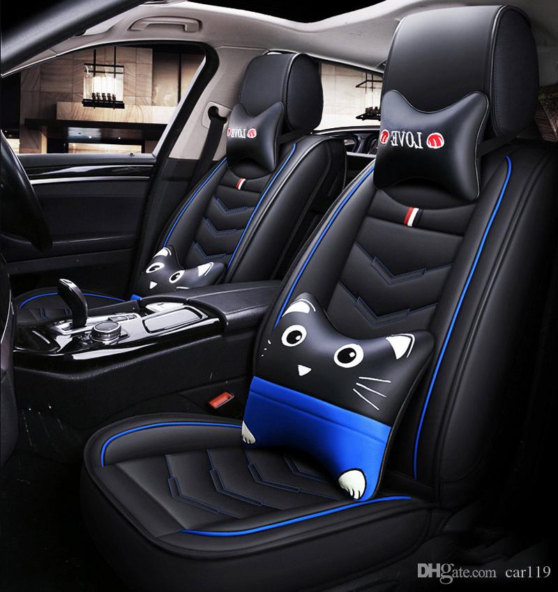 2020 New Cartoon Luxury Leather Car Seat Covers For Bmw 1 3 5