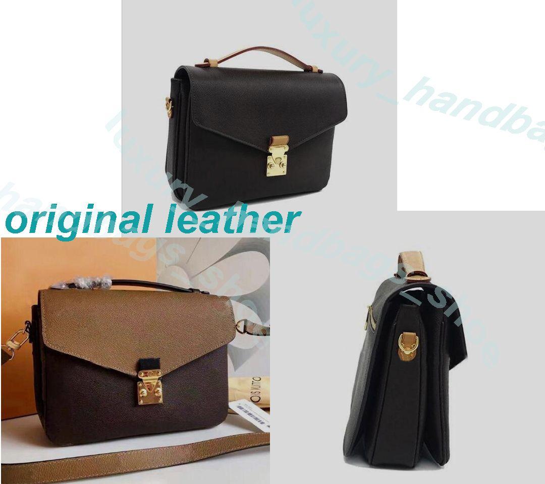 Klasik Messenger Çanta Orijinal Deri Kadın Çanta Postacı Paketi Tote Tasarımcı Çanta Çanta Omuz Çantaları Crossbody 40780m