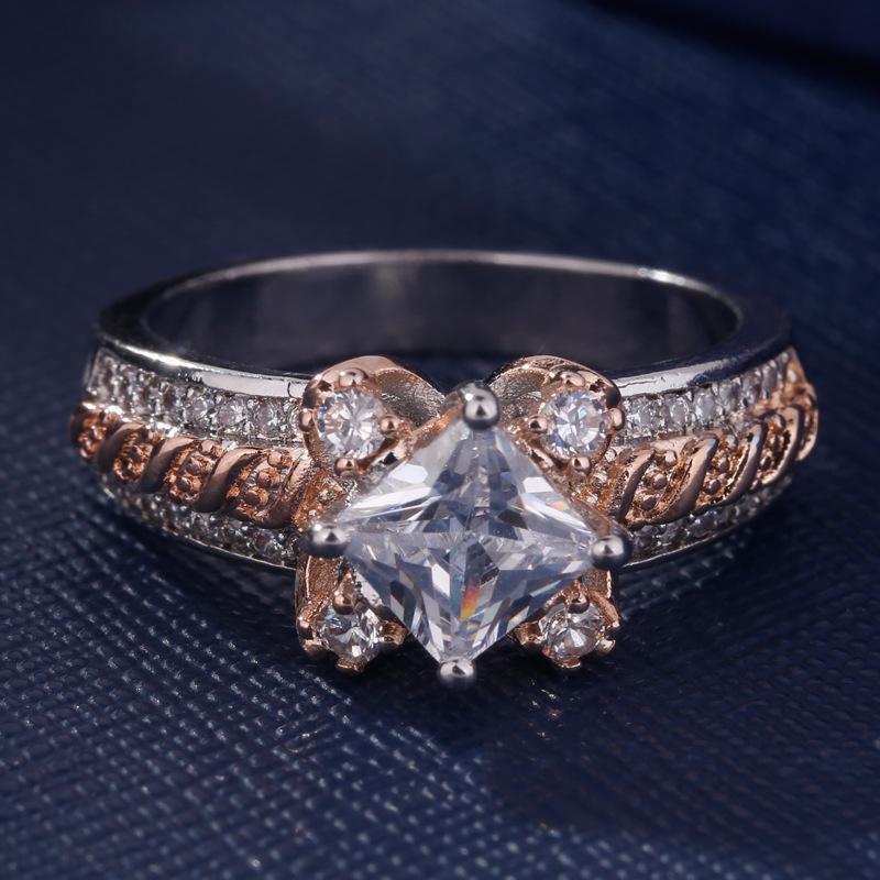2019 Nuovo Maschio Europeo creativo in oro rosa del fiore di colore di marca anello gioielli di moda design semplice anelli delle donne per la festa nuziale