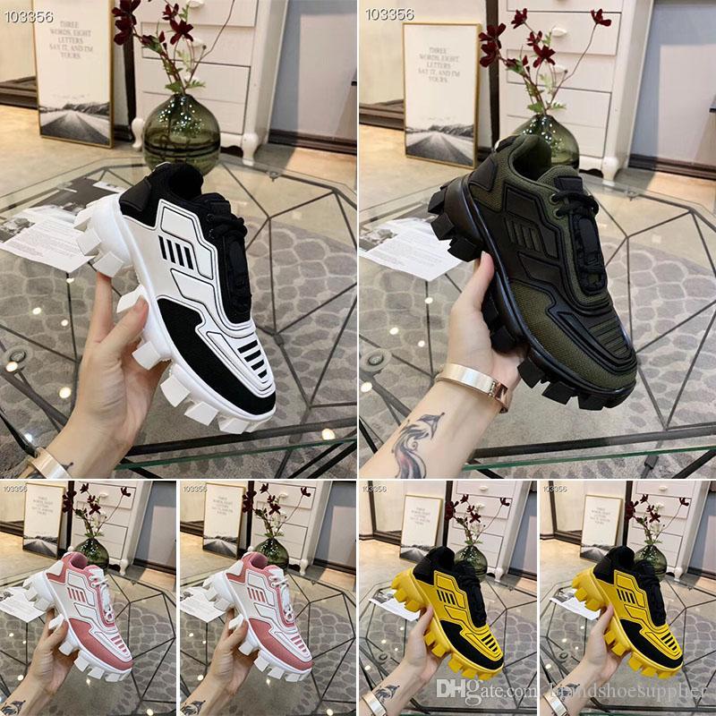 2019 sıcak yeni tasarımcı ayakkabı erkekler ve kadınlar Cloudbust Thunder örgü tasarımcı boy bayan ayakkabıları hafif kauçuk taban 3D rahat ayakkabılar