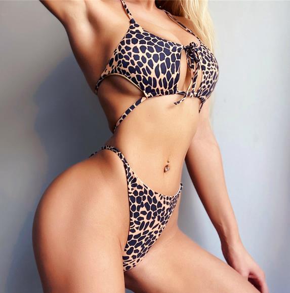 Women Designer Print Bikini Fashion Panelled Contrast Color Two Piece Bikinis Summer Beach Women Swimwear