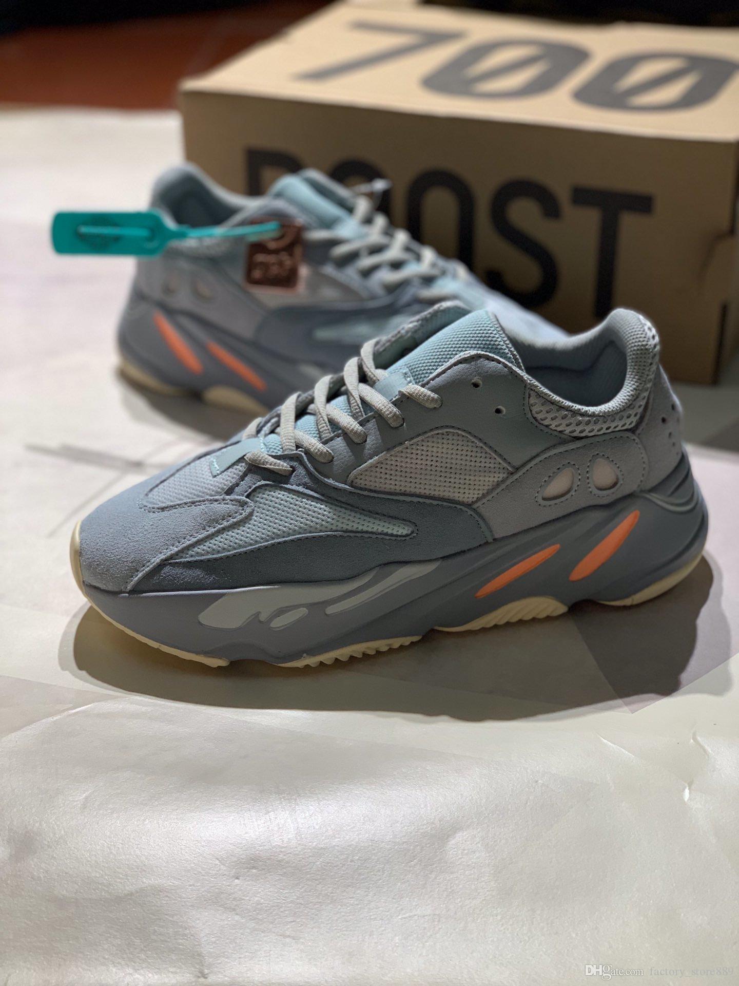 Üst Kalite Yansıtıcı 700 Dalga Atalet Tephra Katı Gri Utility Siyah Vanta Erkekler Tasarımcı Ayakkabı Kadınlar Statik Süet Sneakers Ayakkabı