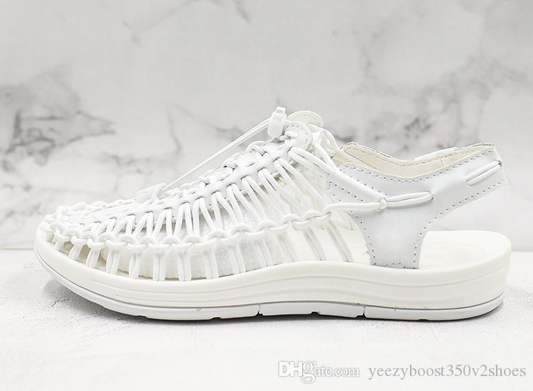 las mujeres calientes de las ventas suave sandalias cómodas Roman Pequeño zapatos de vadeo zapatos blancos de verano de diseño de alta calidad de los zapatos transpirables aguas arriba EU35-39