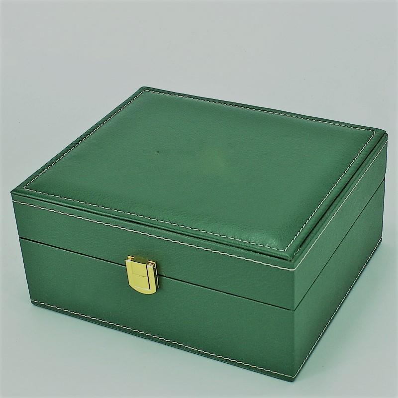 Factory Direct PU boîte en cuir vert suisse célèbre marque montre emballage montre gros spot boîte d'emballage de boîte