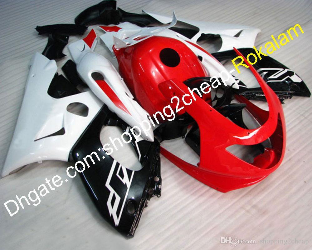 Kit moto après marché YZF-600R Carénages Set Pour Yamaha YZF 600R Thundercat 1997-2007 Blanc Rouge Noir Carrosserie