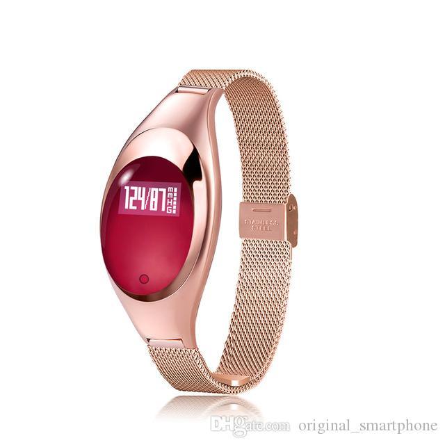Z18 Smart-Armband-Blutdruck-Blut-Sauerstoff-Puls-Monitor-Smart-Uhr-wasserdichte Bluetooth Fitness Track-Armbanduhr für IOS Android