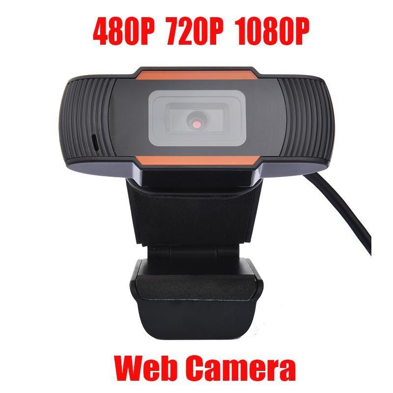 Webcam Web Kamerası Dahili Mikrofon USB 2.0 Video Kaydı İçin Bilgisayar İçin PC Dizüstü Ses emici 480P / 720P / 1080P PC Kamera 30fps