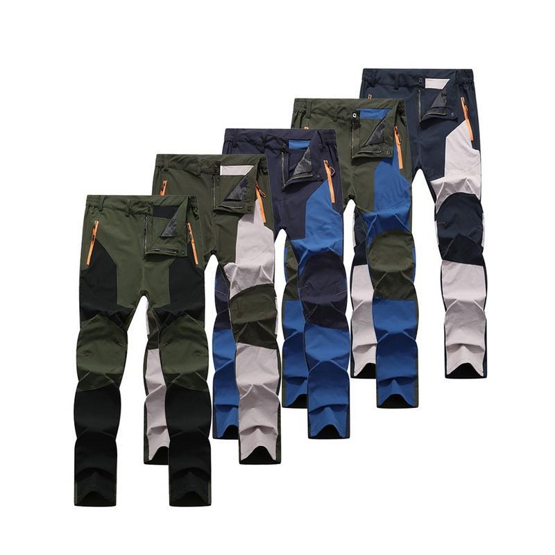 Мода горячей продажи Крупногабаритные мужчин Походные брюки Водонепроницаемые брюки Мягкие оболочки Брюки Кэмп Рыба Trekking Подняться Туризм Спорт Путешествия