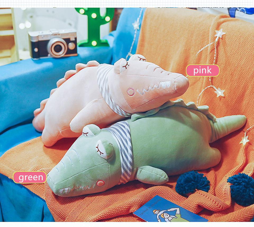 Factory Direct New Candy Color Crocodile Pillow Doll Crocodile Valentine's Day Gift Plush Toy Doll ZZC-196