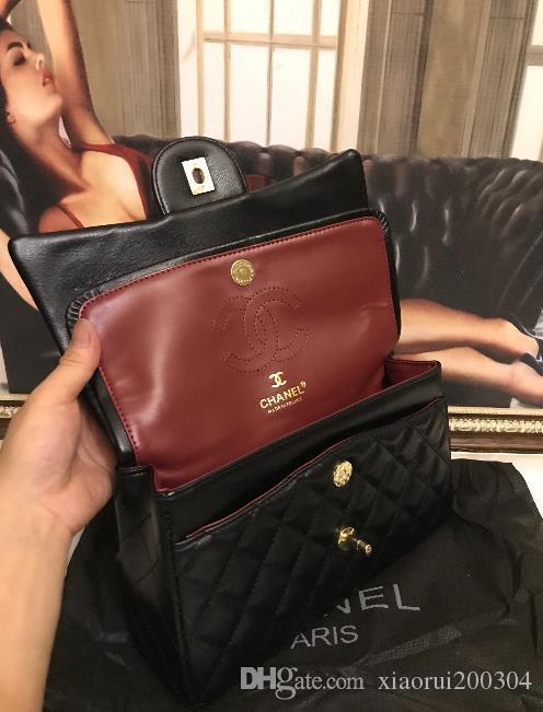 2020Classic дизайнерские женские сумки, женские композитные сумки, PU женские сумки, цветная строчка пряжки цепи bag007