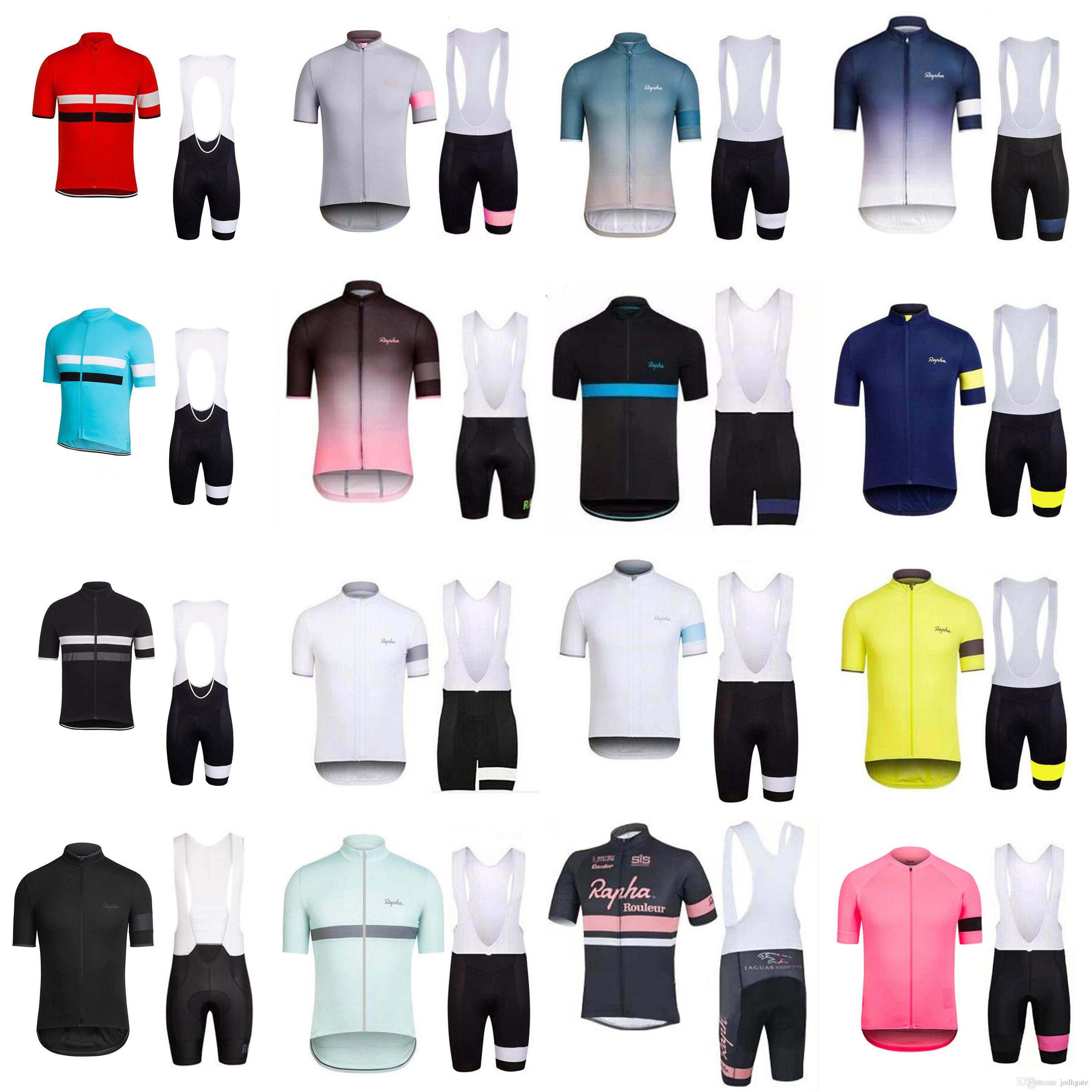 RAPHA Pro team short Sleeve Cycling Jersey Ropa Ciclismo Breathable Racing Bicycle Cycling Clothing MTB Bike Clothes F52108