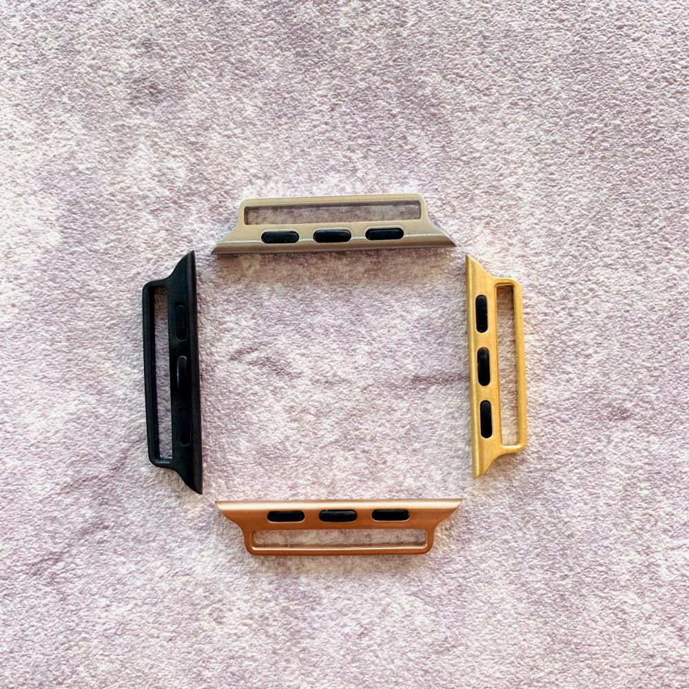 Adaptador hecho a mano 10pcs sellado Etsy bricolaje para el reloj de la banda de Apple 38mm 42mm Por iWatch Conector 44mm 40mm Serie 1 2 3 4 5 Accesorios 5 pares