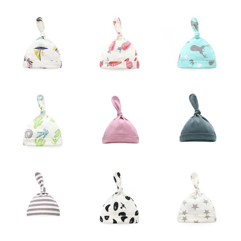 Baby Hats Cute Tail Fetal Cap for Newborn Infant Beanies Cotton Cartoon Boy Girls Beanie Caps Kids Warmer Bonnet Casual Caps