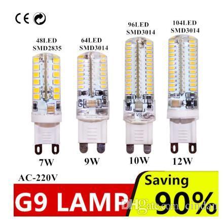 G9 7W 9W 12W AC220V ~ 240V G9는 2,835 3,014 G9 LED 광 30 / 40W의 할로겐 램프 광을 교체 램프 LED 전구 SMD 주도