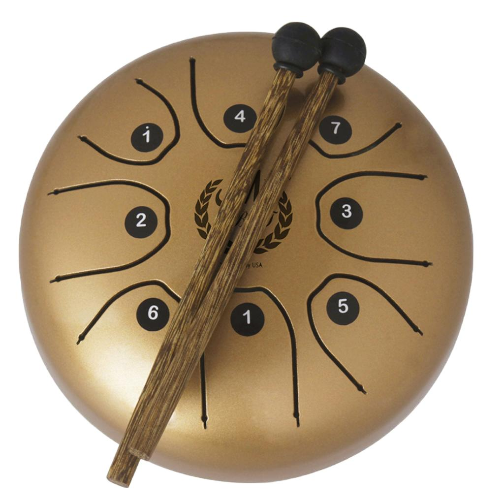 8 Note Tongue Drum 5.5'' Mini Steel Percussion Instrument for Yoga Meditation Gift