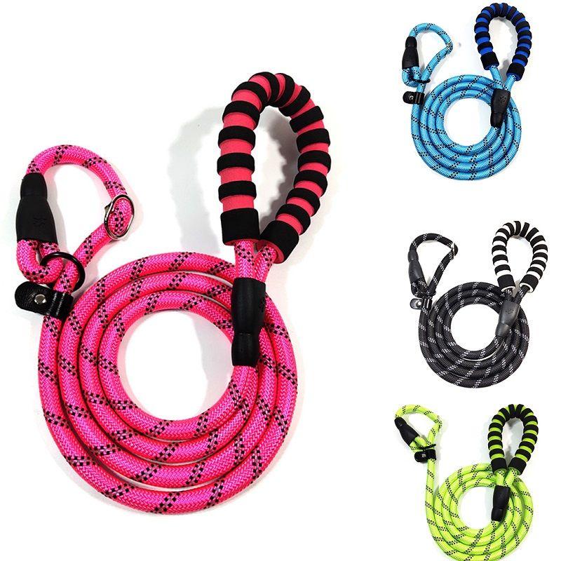 Pet P цепь два цвета собаки веревку нейлона на открытом воздухе пена безопасности удобная ручка анти-поводок шеи собаки цепь
