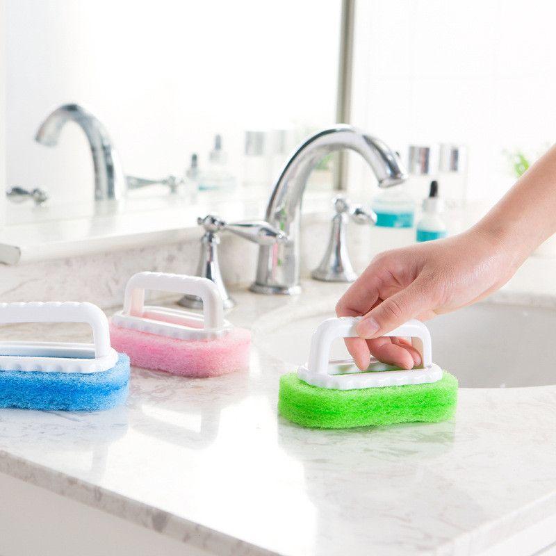 Sponge Escova Janela sulco Tiles Barthroom Fogão escova de limpeza Casa Cozinha poeira escova ferramenta de limpeza Limpa
