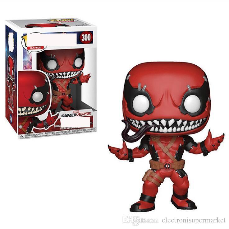 Funko POP Venompool Comis de Chapions figura de acción de vinilo con la caja # 300 populares juguetes de Navidad de la buena calidad