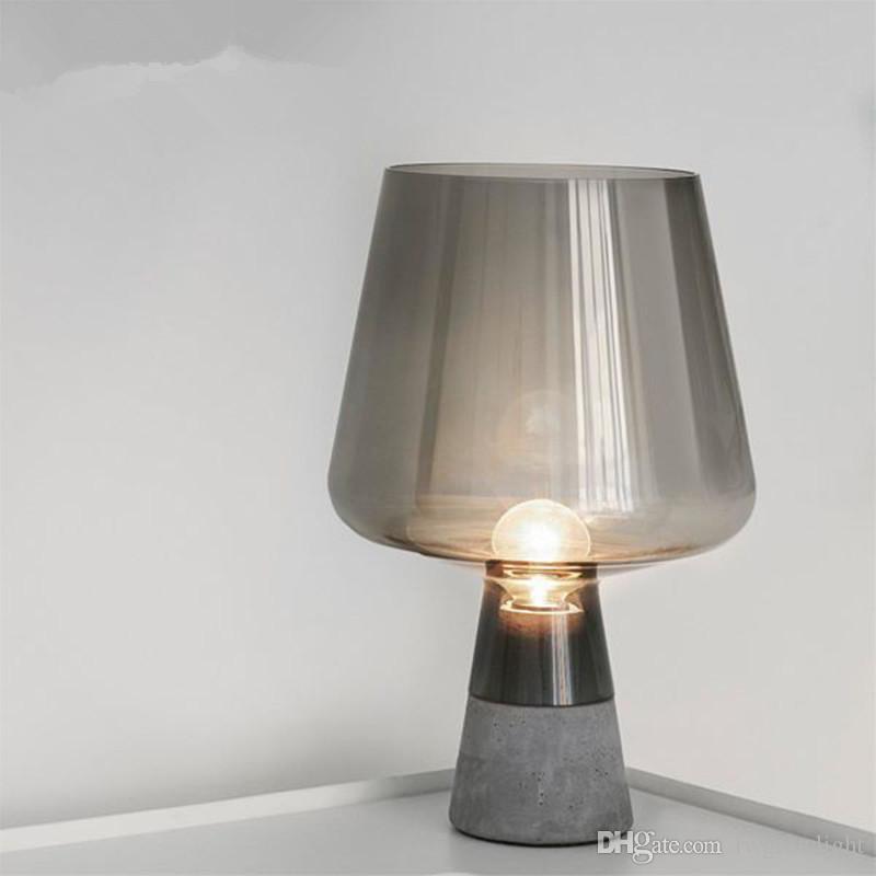 Tabla LED estadounidense lámpara de cristal de la sala Loft Decr Inicio Campo simple lámpara de escritorio Pastoral dormitorio de noche Light Art Tabla - L142