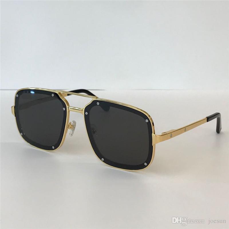 Novos Óculos de Sol de Design de Moda 0194 Metal Quadrado Quadrado Simples Verão Popular Venda Estilo UV400 Proteção ao ar livre Óculos para os homens
