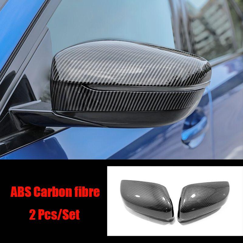 Pour 3 Série G20 2019 2020 ABS garniture chromée de couverture de rétroviseur porte latérale autocollant de voiture Les accessoires Car Styling 2pcs