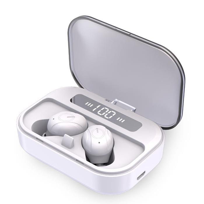 الألعاب سماعة في الأذن صحيح اللاسلكية الرياضة للحد من الضوضاء بلوتوث 5.0 سماعات الأذن سماعات أذن العرض الرقمي مع الشحن مربع