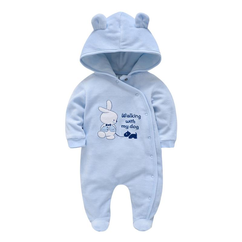 Fashion Cartoons Baby Rompers Warm Winter Baby Gril Rompers Jumpsuit Christmas Newborn Boy Overall Jumper Velvet Infant