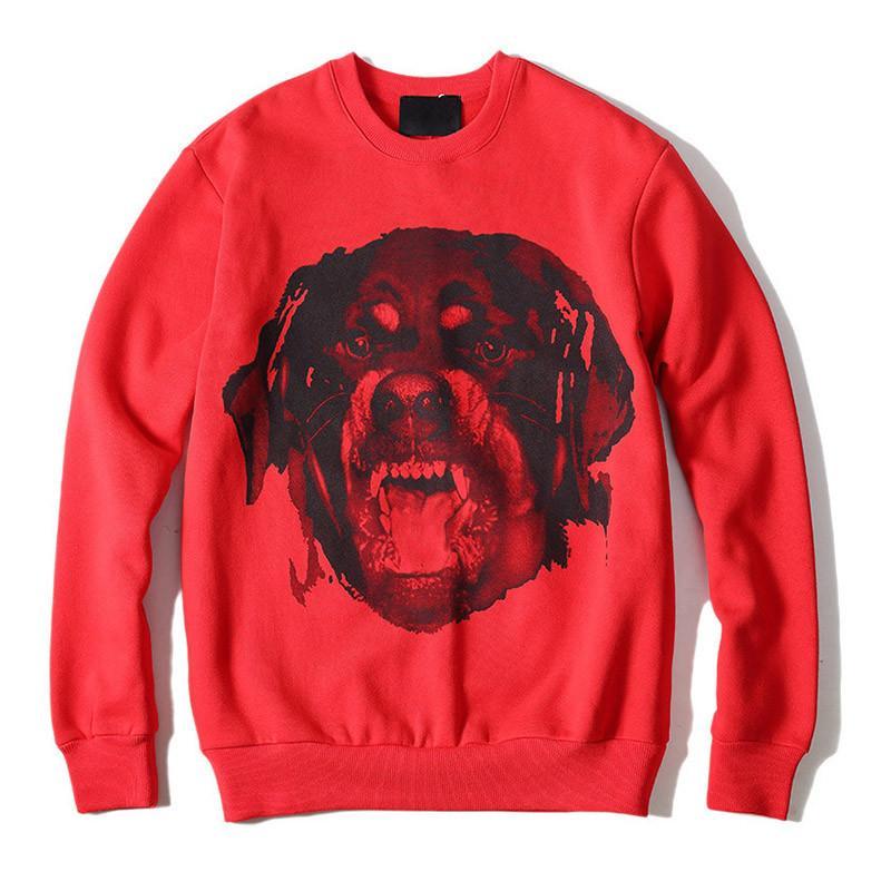 Sweat à capuche de 19FW FashionTrend Impression de haute qualité Hommes Femmes Sweats à capuche unisexe styliste Casual Chemises à manches longues rouge