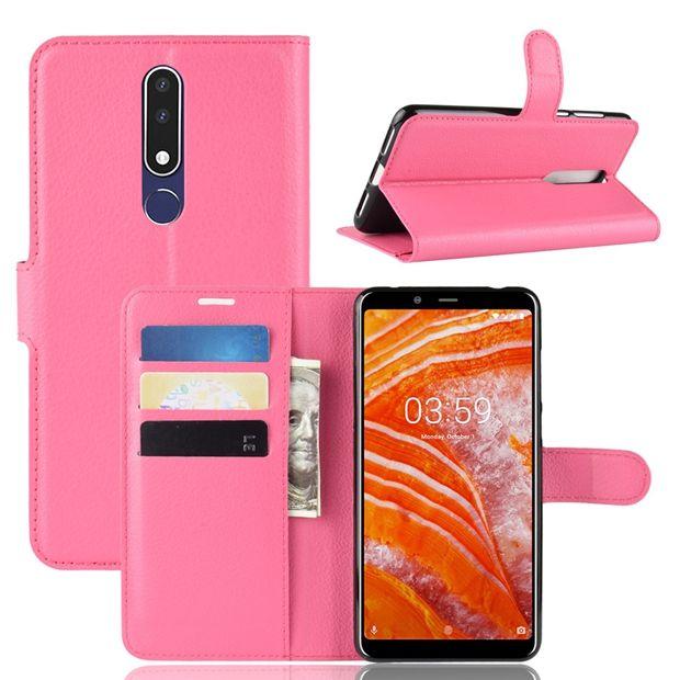 Litchi-Mappen-Leder-Kasten für Samsung Galaxy A6S Nokia 3.1 7.1 Sony Xperia 10 PLUS Wiko Sunny 3 Stand Karte Geld Leechee Haut-Abdeckung Mode