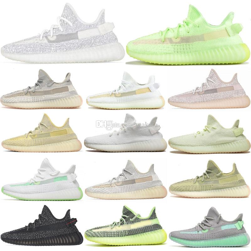 Nuovo Kanye Scarpe Moda Uomo Scarpe Donna Yecheil Nero Viola Yeshaya Statico riflettente Kanye West Stivali Sport Sneakers Taglia 36-47 Esecuzione